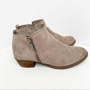 Carlos Santana Brie Faux Suede Zip Up Ankle Boots